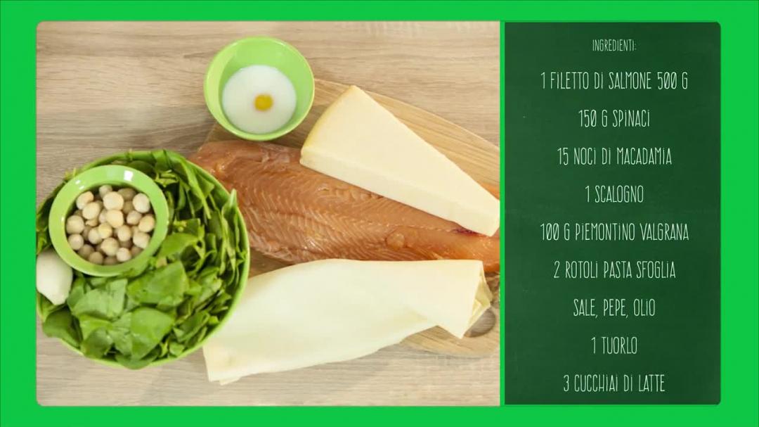 Salmone al Piemontino e spinaci in sfoglia